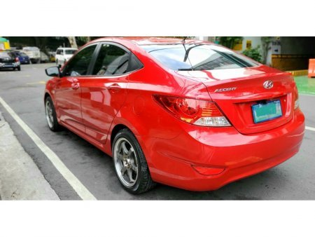 Red Hyundai Accent 2013 Sedan 1.4L AT Gas