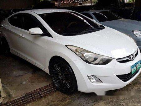 White Hyundai Elantra 2012 Manual Gasoline for sale