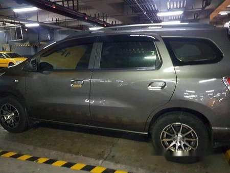 Grey Chevrolet Spin 2015 Automatic Gasoline for sale