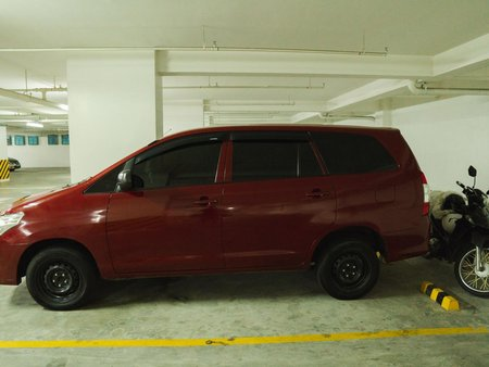 Red Toyota Innova 2013 J Diesel Manual for sale in Quezon City