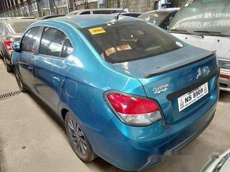 Selling Blue Mitsubishi Mirage 2017 Manual Gasoline