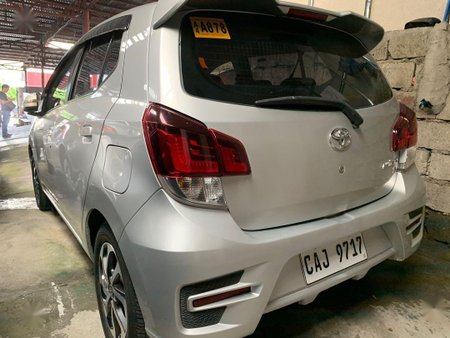 Silver Toyota Wigo 2018 for sale in Quezon City