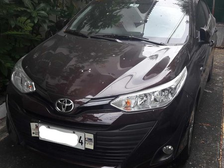 Blackish Red Mica Toyota Vios 2019 at new look for sale in Manila