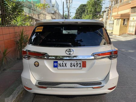 Pearl White Toyota Fortuner 2018 for sale in Pasig