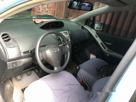 Blue Toyota Yaris 2008 Manual for sale