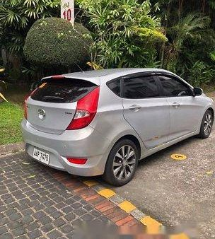 Silver Hyundai Accent 2014 Hatchback for sale