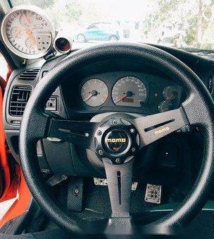 Selling Red Mitsubishi Lancer 1997 Manual Gasoline