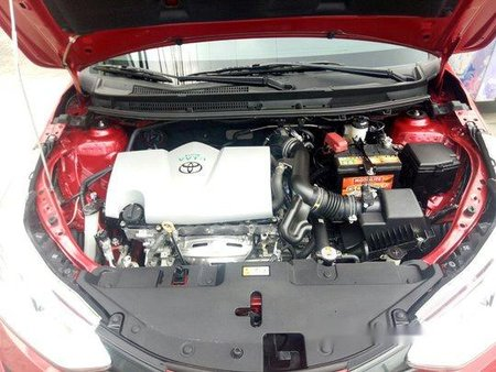 Red Toyota Vios 2018 Manual for sale