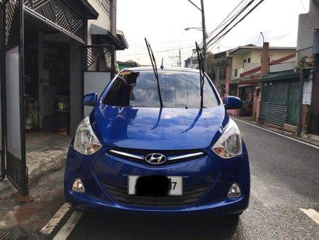 Blue Hyundai Eon 2014 for sale in Manila