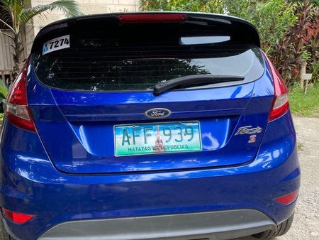 Blue Ford Fiesta 2013 for sale in Cebu City