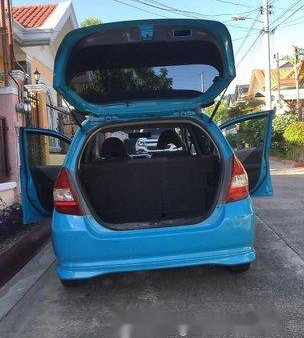 Blue Honda Fit 2010 for sale in Manila