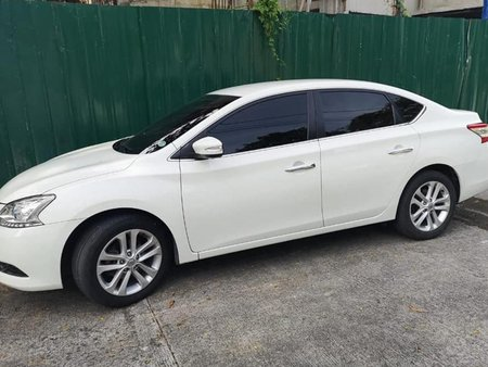 Pearl White Nissan Sylphy 2015 for sale in Quezon City