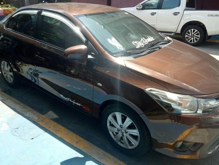 Brown Toyota Vios e a/t 2016 grab ready with cpc
