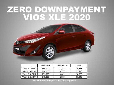 Brand New Toyota VIOS ZERO DOWNPAYMENT