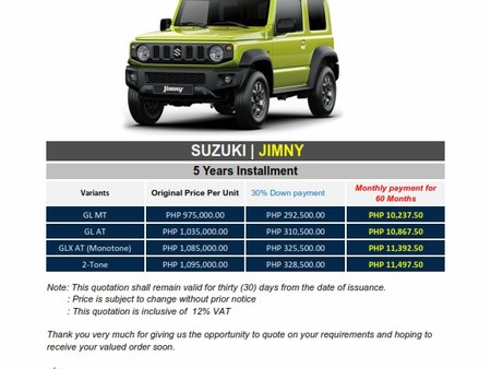 Brand New 2020 Suzuki Jimny - WE CATER ALL BRANDS AND VARIANTS