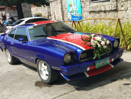 Blue Ford Mustang 1974 for sale in Manual