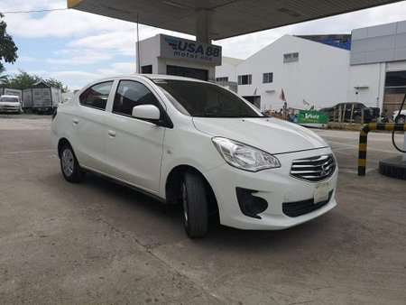 White Mitsubishi Mirage 2016 G4 GLX manual for sale in Cagayan de Oro City