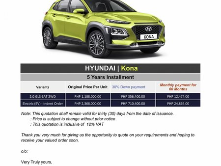 Hyundai KONA - We cater All Brands
