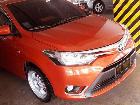 Orange Toyota Vios 2016 Sedan at Automatic  for sale in Manila