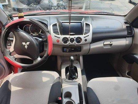 Red Mitsubishi Strada 2010 Truck for sale