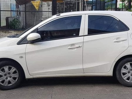White Honda Brio 2015 Hatchback for sale in Quezon