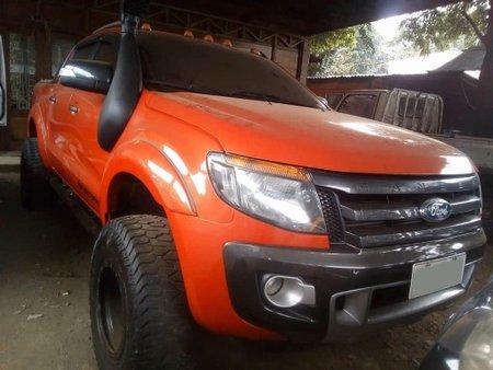 Orange Ford Ranger 2.0 Turbo Wildtrak Manual 2015 FOR SALE