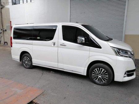 White Toyota Hiace Super Grandia for sale in Quezon City