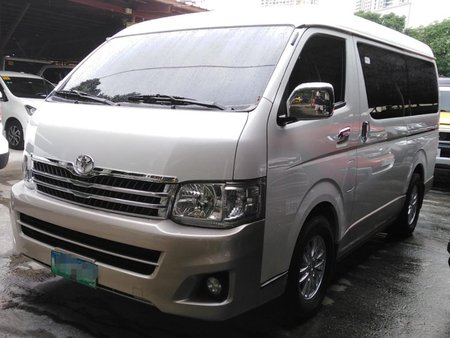 Pearl White Toyota Hiace Super Grandia for sale in Manila