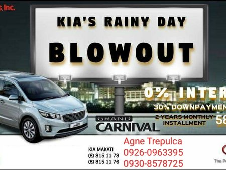 Kia Grand Carnival for 0% Interest Monthly Installment P58,188!