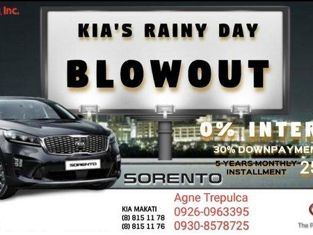Kia Sorento 2.2L Diesel EX AT for 0% Interest Monthly Installment P25,609!