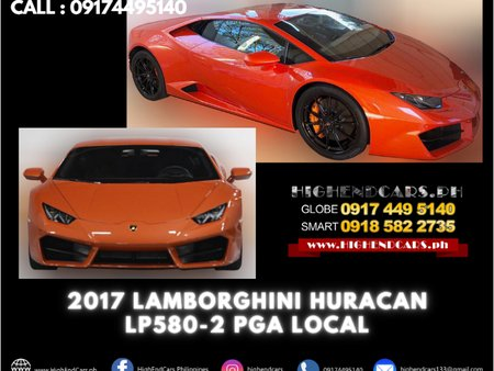 2017 LAMBORGHINI HURACAN LP580-2 PGA LOCAL