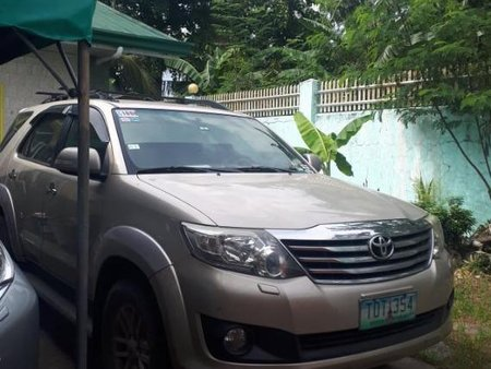 Silver Toyota Fortuner 2012 for sale in Lucena