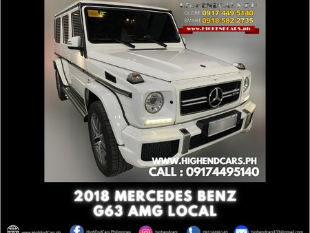 2018 MERCEDES BENZ G63 AMG LOCAL