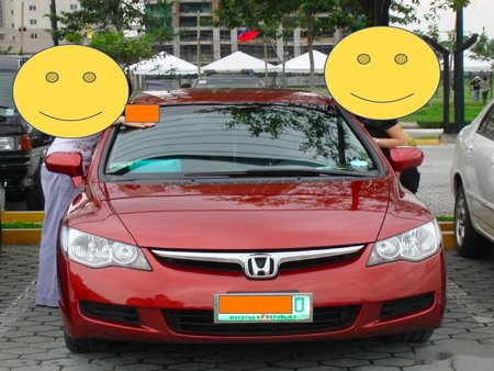 Sell Red 2007 Honda Civic at 105000 km in Las Piñas