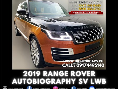 2019 RANGE ROVER AUTOBIOGRAPHY SV LWB TOP MODEL
