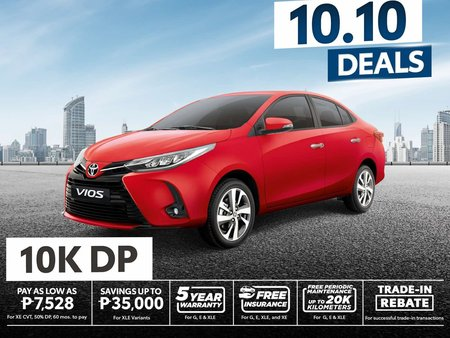 2020 TOYOTA VIOS 10K DOWNPAYMENT (BRAND NEW)