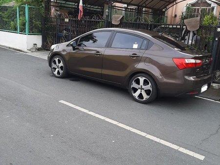 Brown Kia Rio 2014 for sale in Las Pinas