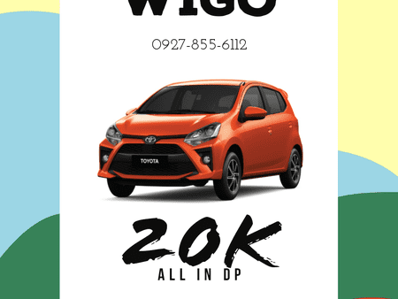 20K ALL-IN DOWNPAYMENT! WIGO 2020