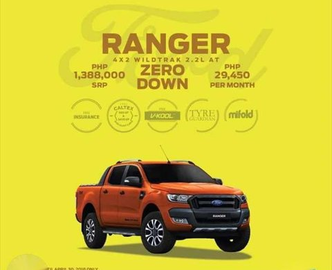 2018 Ford Ranger Wildtrak Low Down Payment Promo 443163