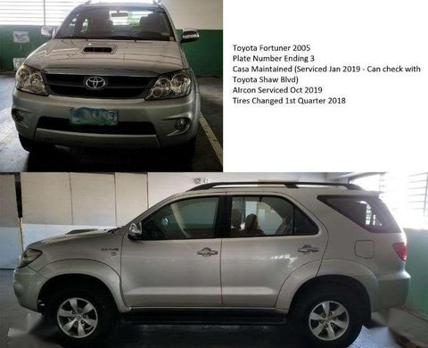 Toyota Fortuner 4x4 2005 FOR SALE 587361