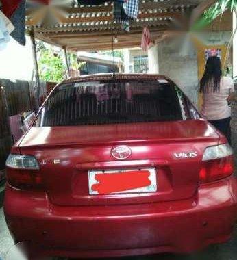 Toyota Vios 1.3 E 2004 MT Red For Sale