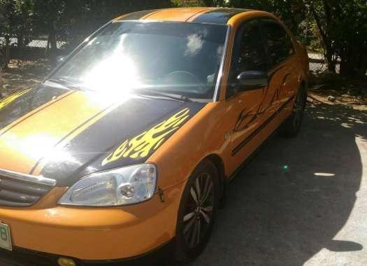 Honda Civic Vti Vtec 2001 AT Yellow For Sale