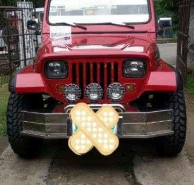 Wrangler Jeep 2000 Red SUV For Sale