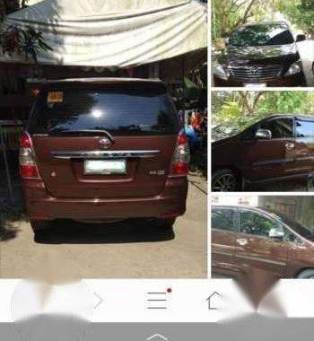 Toyota Innova G Metallic brown 2014 model