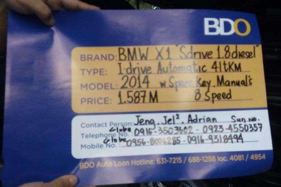 2014 BMW X1 Sdrive 18 Diesel Automatic 41tkm IDrive