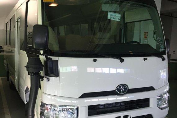 White 2019 Toyota Coaster Van for sale in Manila