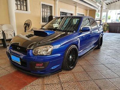 Blue 2003 Subaru Impreza Wrx STi at 65000 km for sale