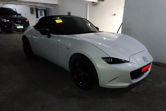 Sell White 2016 Mazda Mx-5 Convertible Automatic Gasoline
