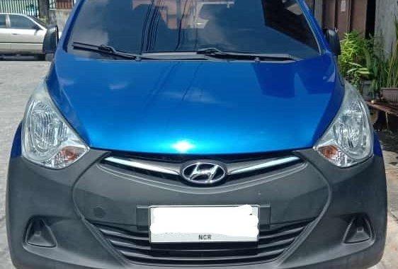 Selling Blue Hyundai Eon 2014 at 55000 km