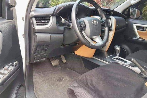 White Toyota Fortuner 2017 at 22000 km for sale